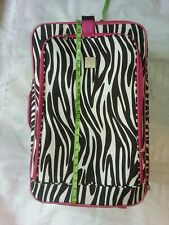 New Directions Hot Pink Black And White Zebra Print Suitcase On Wheels