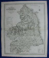 Northumberland original antique county map, Reform Bill, Ebden, Duncan, 1838