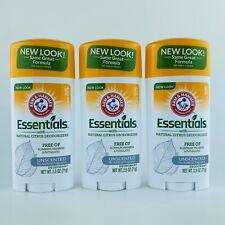 3-Pack Arm & Hammer Essentials Natural Citrus Unscented Deodorant 2.5 oz Each