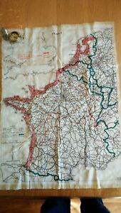 ORIGINAL WW2 RAF double sided Silk Escape & Evasion Map plus compass.