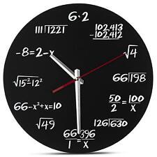 Decodyne Math Clock Pop Quiz Math Equations Wall Clock Perfect for Classroom