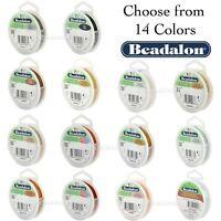 Beadalon 7 STRAND Bead, Gem Stringing Flex Wire (Various Colors + Sizes)