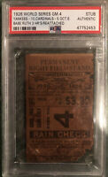 BABE RUTH 1926 WORLD SERIES GAME 4 TICKET STUB 3 HRS🔥Johnny Sylvester Game-PSA
