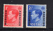 Great Britain-Morocco #244-245a 1936 King Edward Viii Surch. Mint Vf Nh O.G