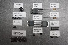 Repair parts kit for Samlex Sec-1223 / Kenwood Kps 15 Dc power supply New