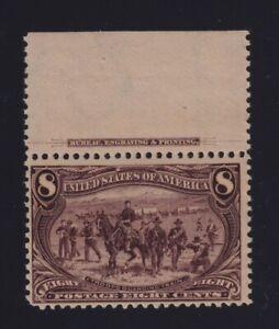 United States Sc #289 (1893) 8c Columbian Imprint Single Mint LH