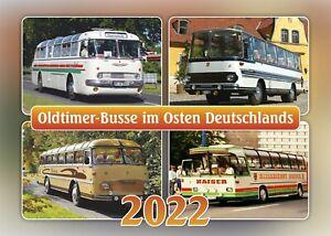 """Kalender """"Oldtimer-Busse im Osten Deutschlands 2022"""" +++ Wandkalender"""