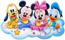 "Disney Babies Mickey Minnie Donald Pluto Iron On 3.75""x6.25"" For Light Fabric"