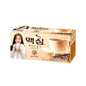 Korea Maxim 3 in 1 Instant Mix Coffee White Gold Skimmed milk Coffee20 sticks