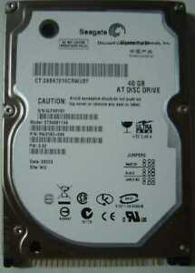 """40GB 2.5"""" IDE 44pin 9.5mm Hard Drive Seagate ST9408114A Tested Our Drives Work"""