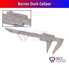 Laboratory Dental Barren Duck Caliper Single End - Laser Marking Measuring Gauge