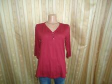 s.Oliver Damen 3/4 Arm Sweatshirt Shirt Rot Gr. 38   Chic #07-8