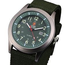 Zeiger Mens Date Military Army Fabric Nylon Canvas Strap Sport Wrist Watch + Box