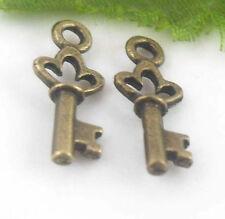 Free Ship 50pcs Tibetan Bronze Charms Key 18x7mm  (Lead-free)