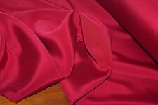2m x 1.08m 'ROUGE LIPPY' Med-Weight Stretch SILK / ACETATE Satin Fabric