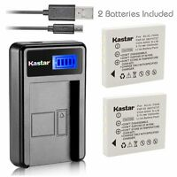 Kastar Battery and LCD Slim USB Charger for Samsung SLB-0737 0837 Pentax D-Li8