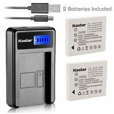 Kastar Battery and LCD Slim USB Charger for Panasonic CGA-S004 Kodak KLIC-7005