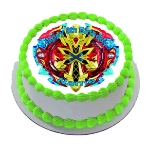 Beyblade Burst REAL EDIBLE ICING ROUND CAKE TOPPER PARTY IMAGE FROSTING SHEET