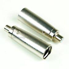 2 Adapter XLR männlich auf Chinch Buchse weiblich Profiware