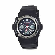 Casio Men's G-Shock Solar Blk Resin Analog/Digital Watch AWGM100-1ACR NEW IN BOX