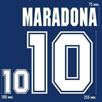 Maradona 10. Argentina Away football shirt 1994 - 1995 FLOCK NAMESET NAME SET
