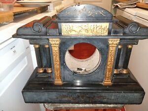 Slate marble mantle clock Surround