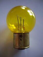 Lampe jaune 6V 45/15W 3 ergots BA21d NEUVE (ampoule)