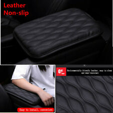 1xBlack Textured Car Center Console Armrest Box Cover Pad Leather Cushion Mat