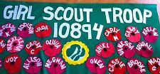 Scout Troop banner 3'X6' parade custom  felt- Memorial Day Parade