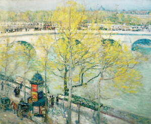 Childe Hassam Pont Royal Poster Reproduction Paintings Giclee Canvas Print