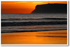 Point Loma California Sunset  - NEW Pacific Ocean Travel Art Print Photo POSTER