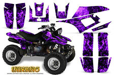 YAMAHA WARRIOR 350 GRAPHICS KIT CREATORX DECALS STICKERS INFERNO PURPLE