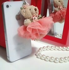 Lovely teddy bear 3.5mm Anti Dust Plug Cover Stopper Charm iPhone 5 4/4s