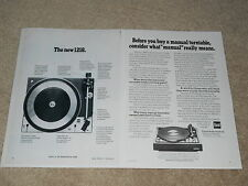 Dual 1218 Turntable Ad, 2 pages, Article, Info, 1975, Beautiful Ad!