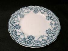 """Flow Blue aqua blue green 7 3/4"""" plate New Wharf Pottery Porcelain England"""