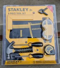 BRAND NEW Stanley Jr. 8PC Child Boys Girls Real Tool Set Ages 5+