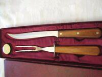 Vintage WEAR EVER Carving Set Knife/Fork/Sharpener New in Original Box
