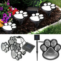 LED Solar Power Paw Animal Prints Lights Garden Outdoor Lamp Path Landscape USA