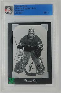 ITG Vault Ultimate Memorabilia 5th Scrapbook Auto Patrick Roy Emerald 1/1