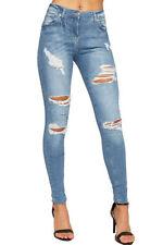 Ripped/frayed Damen-Jeans Hosengröße 38