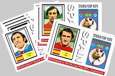 SPAGNA-Coppa del Mondo 1974 SERIE 1-cartolina da Collezione Set