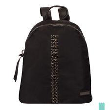 2017/18 Winter Pierre Cardin 63083 UNY05 Genuine Leather Trim Zipped Backpack