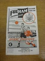 18/04/1960 Fulham v Arsenal  (Faint Marking). Thanks for viewing our item, buy w