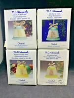SET 4 NEW NIB GOEBEL M.I. HUMMEL CHRISTMAS BELLS 1993~1995~1997~1998