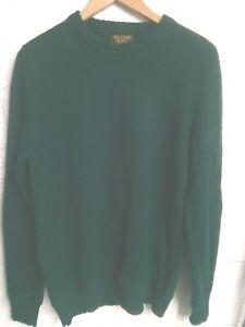 """William Hunt green Shetland wool jumper L/42""""chest"""