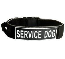 Reflective Nylon Dog Collar Training Handle Heavy Duty Dog Collar Removable Tag