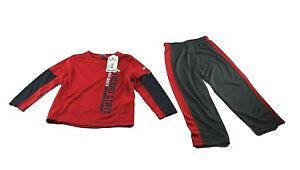 Bulldogs Fresno State Kids boys long Sleeves shirt and pants Red for Todllers