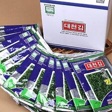 Daechun 10packs Seaweed Laver Korean Seasoned Roasted Sheet Riceball Sushi