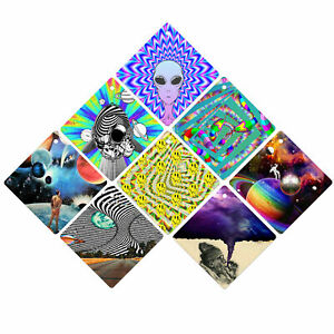 Psychedelic Car Window Sign Sticker - Single Sided with Suction Cup