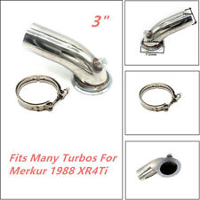 Stainless Downpipe Elbow V-band Adapter Flange Clamp 90° For Turbo HY35 HX HE351